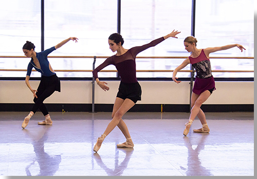 (Left to right) Sarah Tryon, Mackenzie Dessens, and Emily Speed, Artists of the Colorado Ballet