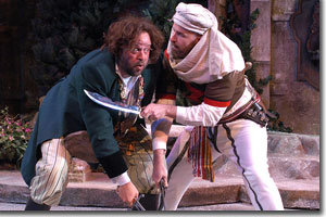 (Left to right) Logan Ernstthal as Sir Toby Belch and Stephen Weitz as Antonio