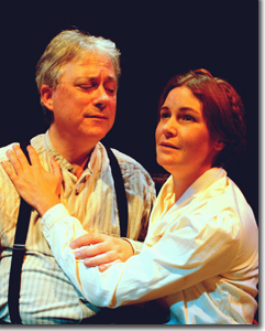 Sonya, Elgin Kelly<br>with Eric Victor as her uncle, Vanya