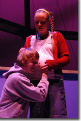 Sean Mellott as Mikey Griffin and Misha Johnson as Maria