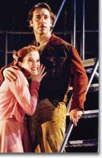 Photo of Christiane Noll as Hope Cladwell and Charlie Pollock as the rebellious Bobby Strong