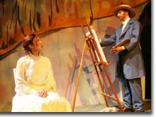 Photo of Kendra Crain McGovern as Marguerite and Brett Aune as Vincent van Gogh