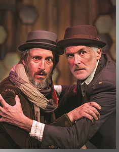 (Left to right) Timothy McCracken as Estragon and Sam Gregory as Vladimir