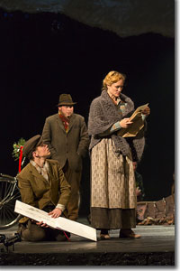 (Left to right) Andrew Veenstra as Albert, Brian Keane as Arthur, and Angela Reed as Rose