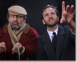 (Left to right) Lawrence Hecht as Keckwick and Andrew Horwitz as Kipps