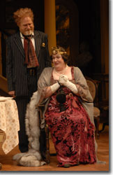 Mike Hartman as Boris Kolenkhov and Kathleen M. Brady as Grand Duchess Olga