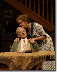 Randy Moore as Grandpa Martin Vanderhof and Jeanne Paulsen as Penelope Sycamore
